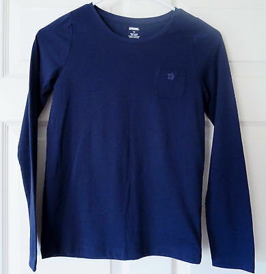 Gymboree Girl's Size 12 Navy Blue Long Sleeve Shirt Top