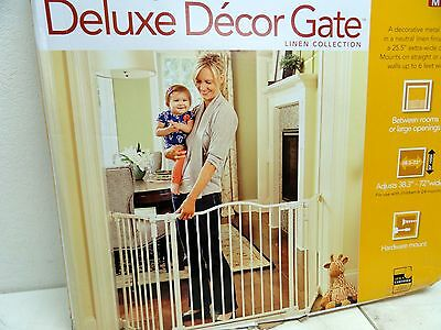 North States Supergate Deluxe Decor Metal Baby Gate Linen Hardware Mount BOX DMG