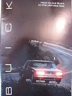 Automobile/Car Sales Brochure 1985 Buick How to put Buick to the ultimate test