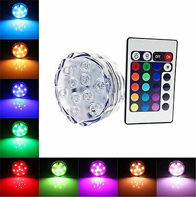 AMARS Waterproof Wedding LED Submersible Lights Battery Powered with Remote for
