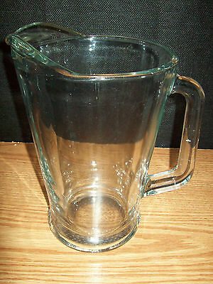 Vintage? Water Soda Juice Beer Beverage Pitcher Clear Glass Heavy Made Mexico
