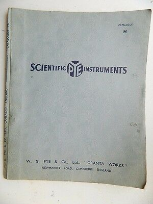 Vintage  PYE  Scientific  Instruments  ( Apparatus ) Catalogue  1953