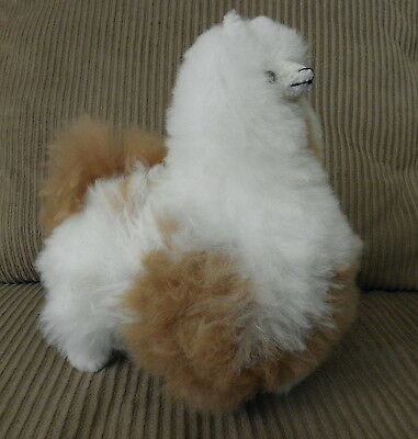 New Handmade By Our Artisan In Peru 10 Inches Standing Plush Alpaca #03057