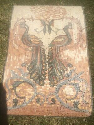 Stunning Syrian Peacock Mosaic , Middle Eastern Art