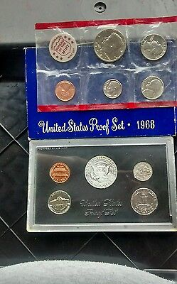 1971 & 1968 Usa Proof Sets 1,5,10,25 Cents,1/2 Dollar