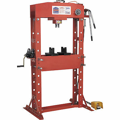 Sealey 50t Air Hydraulic Press Floor Type with Foot Pedal