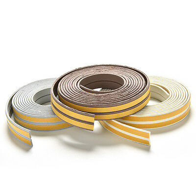 5M E/D/I-type Foam Draught Self Adhesive Window Door Excluder Rubber Seal Strip/