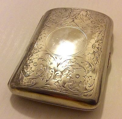 Stunning Rare Chester 1901 Fully Hallmarked Antique Silver Card Case Money Case