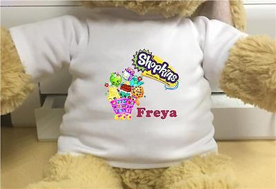 Personalised Shopkins Tshirt Fits Large Build A Bear Clothes
