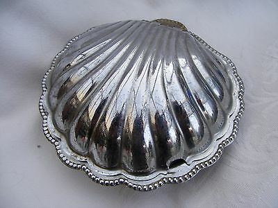 Vintage /Retro Scallop shaped butter dish with glass lining.