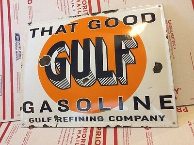 The Good Gulf Porcelain Sign Gas Pump Station