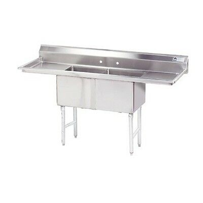 "18"" Two Compartment Fabricated NSF Sink - Advanc"