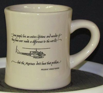 Marines - - - President Reagan's Quote on a Diner Mug - - - Now with a Name