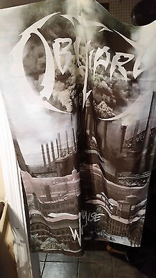 "Obituary**world Demise**silk Flag/poster 28""(W)X42(L)"" Pre-Hung**deicide*death"