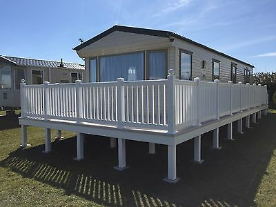 Static Caravan Decking - 16x8ft plus 20x4ft with steps!