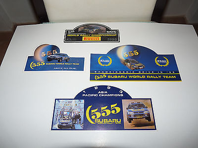 Subaru 555 World Rally Championship Adesivo Sticker Rallye