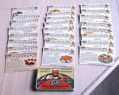 Vintage B & M Recipe Cards - 1940' Or 1950's