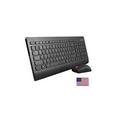 0A34032 Lenovo Ultraslim Plus Wireless Keyboard and Mouse (Black) - US English