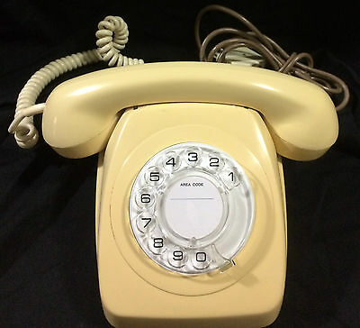 Rotary dial 1960's - 1970's vintage phone fully refurbished and working
