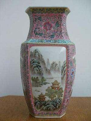 Stunning Signed 20th Century Chinese Hand Painted  Porcelain Vase.