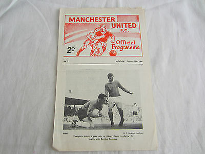 1964-65 CENTRAL LEAGUE RESERVES MANCHESTER UNITED v LEEDS UNITED ( WITH TOKEN )