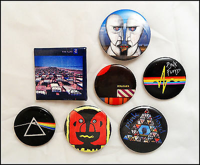 Pink Floyd Lot Of 7 Buttons Pins  / Division Bell / Momentary Lapse Of Reason