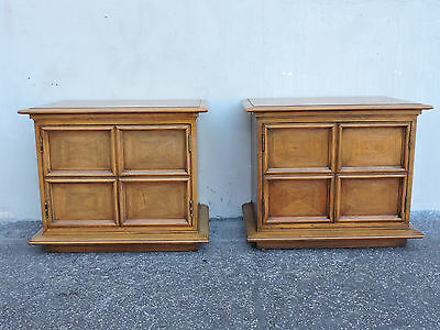 Pair of Mid-Century Modern Nightstands / End Tables by Thomasville 6176