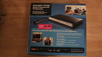 Humax Hdr-2000T Freeview & H D Recorder,with John Lewis Receipt,rrp £189.00