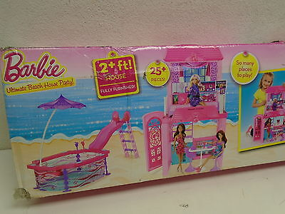 Barbie Ultimate Beach House Party! BOX DAMAGE