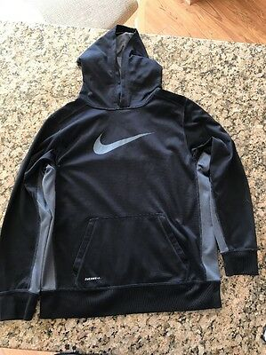 Boys Nike Youth Therma-Fit Black Sweatshirt ~ Size XL