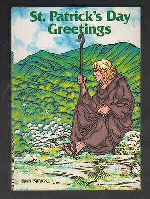 St Patricks Day Greetings---Stamped And Postmarked---26/ii/85