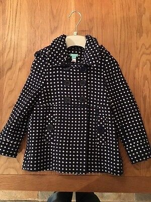Monsoon Girls Woolen Double Breasted Winter Coat Aged 6-8 Excellent Cond.