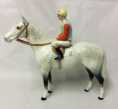 Beswick Grey Horse And Jockey