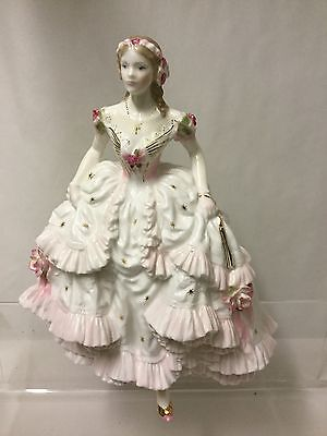 "Royal Worcester   Large Figurine ""the Royal Debut "" Lovely"