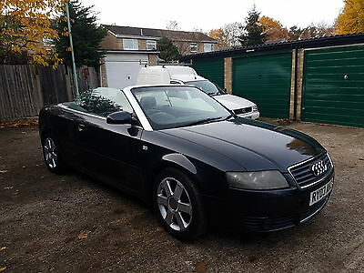 2003 audi a4 1.8t turbo convertible cabriolet auto spares or repair