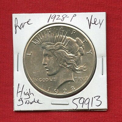 1928 Peace Silver Dollar #59913 $ High Grade Coin $ Us Mint Rare Key Date Estate