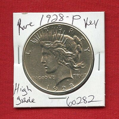 1928 Peace Silver Dollar #60282 $ High Grade Coin $ Us Mint Rare Key Date Estate