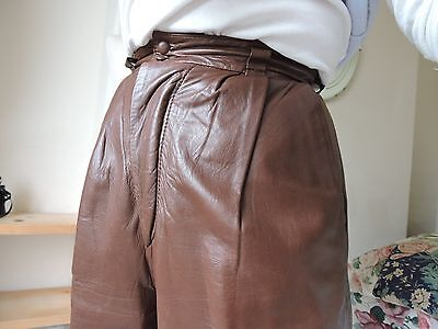 Vintage FRIITALA of Finland fine Kid Leather Trousers in Tan - uk 8