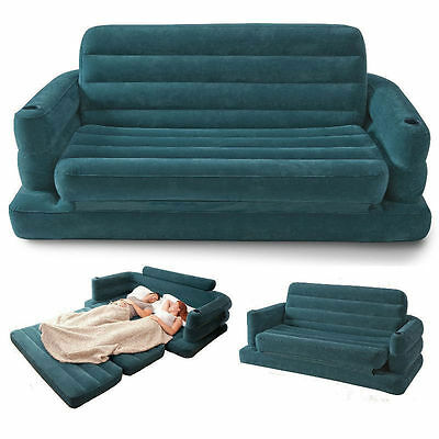 Pull Out Double Sofa Bed Inflatable Pullout Air Sofabed Settee Couch New