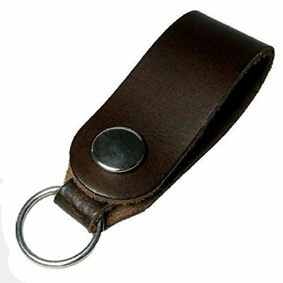 Quality Leather Key Fob - Key Loop Keyring - Attach to Trouser Belt Loop or Bag