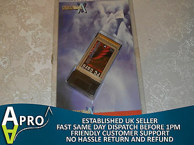 Nos - Newlink 2 X Firewire 400 Ieee 1394 Pcmcia Card 32 Bit - Uk Seller