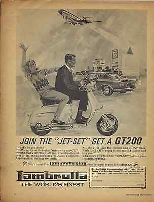 One Only! Orig. Historic 1966 Lambretta 'jetset' Scooter Sales Poster/ad Gp 200