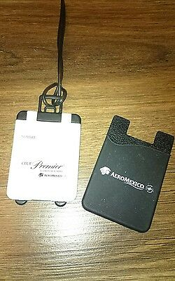 AEROMEXICO airline CLUB PREMIER suitcase luggage tag very rare airline gift