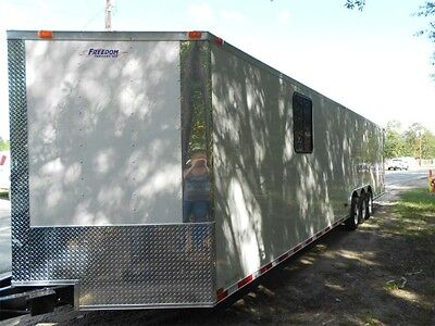 34' 2 car hauler/cargo trailer enclosed 34' Plus V-NOSE   2017