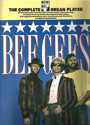 Bee Gees Complete Organ Player Sheet Music 20 Songs Massachusetts Words Tragedy