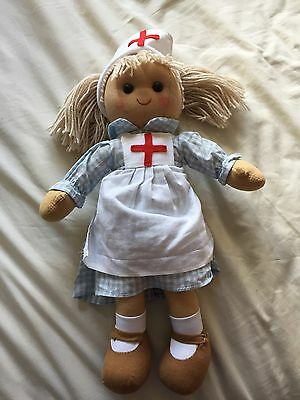 Powell Craft  Nurse Dolly Rag Doll Perfect Condition