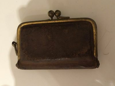 nice Early Leather Purse Sovereign Case - Chatelaine