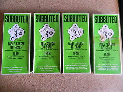 VINTAGE 1970s SUBBUTEO - FOOTBALL H/W SPARE BOXES - All include plastic inners.