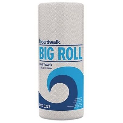 """Boardwalk BWK6273 Paper Towels Rolls Perforated White 11"""" x 8-1/2"""" 2-Ply 250/Rol"""