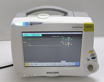 Philips Intellivue MP30 M8002A Patient Monitor with NBP, SPO2, ECG RESP